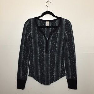 Free People Black and White Thermal